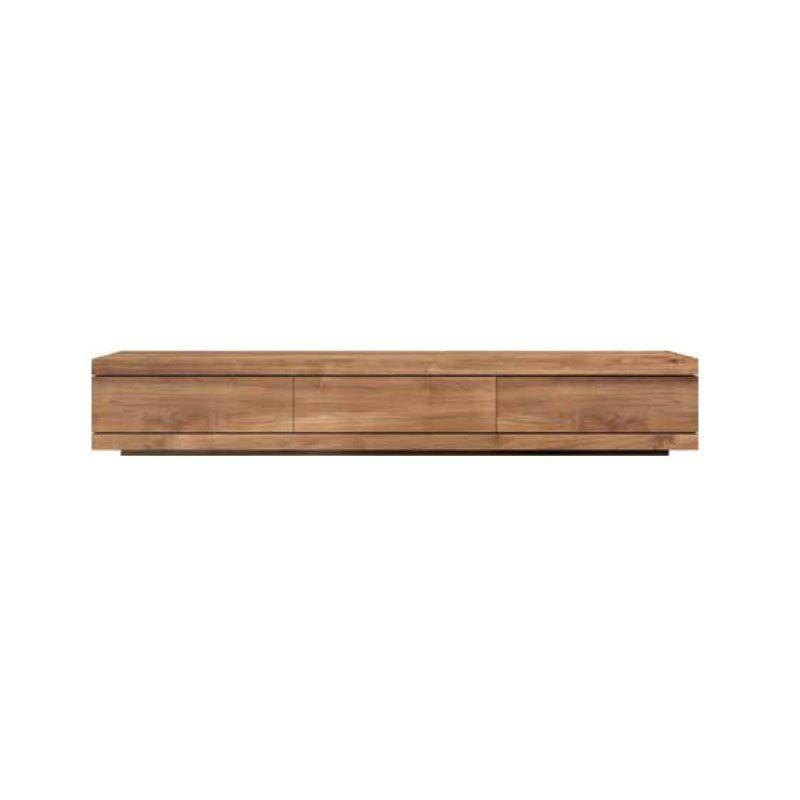 Armario bajo para la tv en madera de teca maciza inhausdeco - Armarios de madera maciza ...