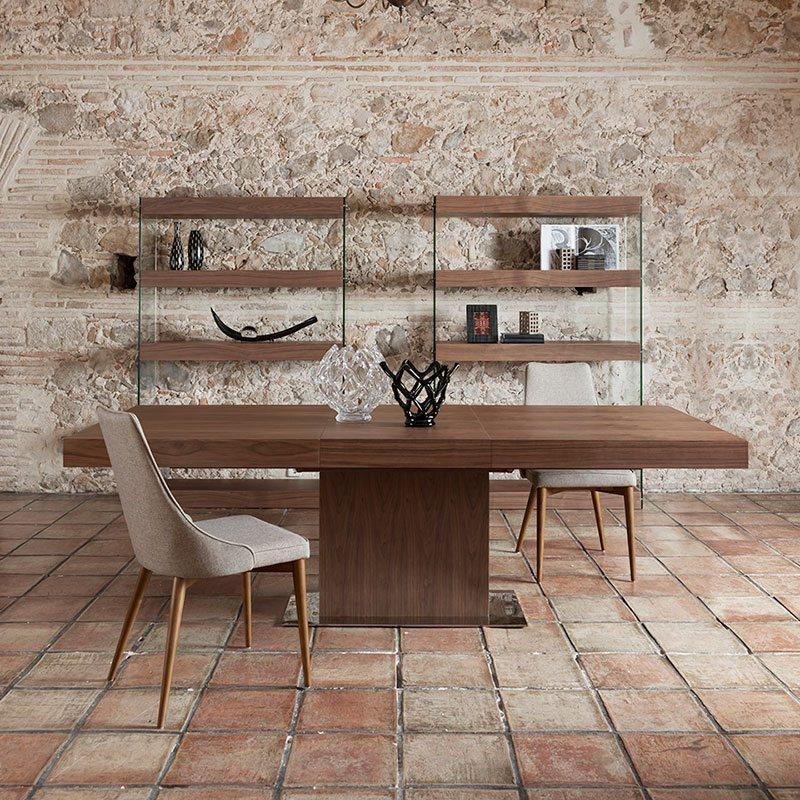 Mesa de comedor extensible rectangular madera de angel for Mesa comedor rectangular madera