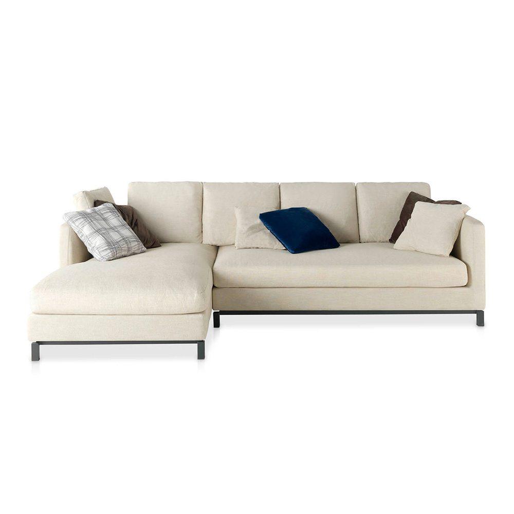 Sofa con chaiselong tapizado izquierdo en tela de angel - Tela tapizado sofa ...